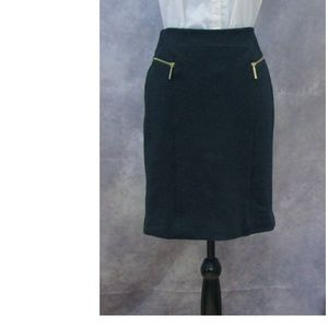 Michael Kors Navy Blue Skirt w/ Zippers Size 6